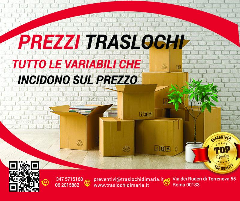 Prezzi Traslochi Roma Cosa Incide Sul Prezzo Del Trasloco A